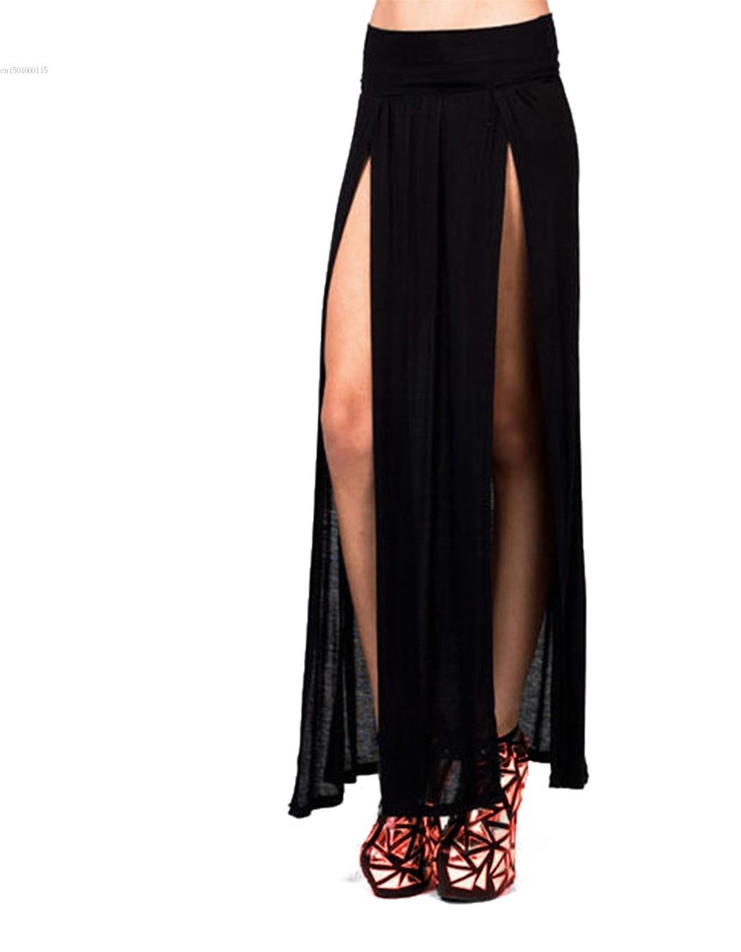 ea7321f35492b 2017 المرأة الصيف تنورة الأزياء جنسي طويل ماكسي التنانير تصميم فريد ...