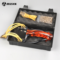 Slingshot for Hunting Fish Stainless Steel Alloy Flame Wolf King Toys Outdoor Games with Rubber Band Marbles Hunting Equipment
