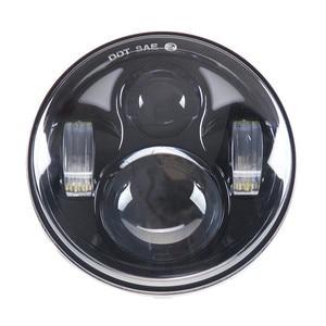 """Image 2 - 5.75 """"ハーレーのオートバイアクセサリー 4Dラウンドプロジェクターレンズledヘッドライト 10v 30v 40 ワット用リアブレーキパッドスポーツスターxl 883/xl"""