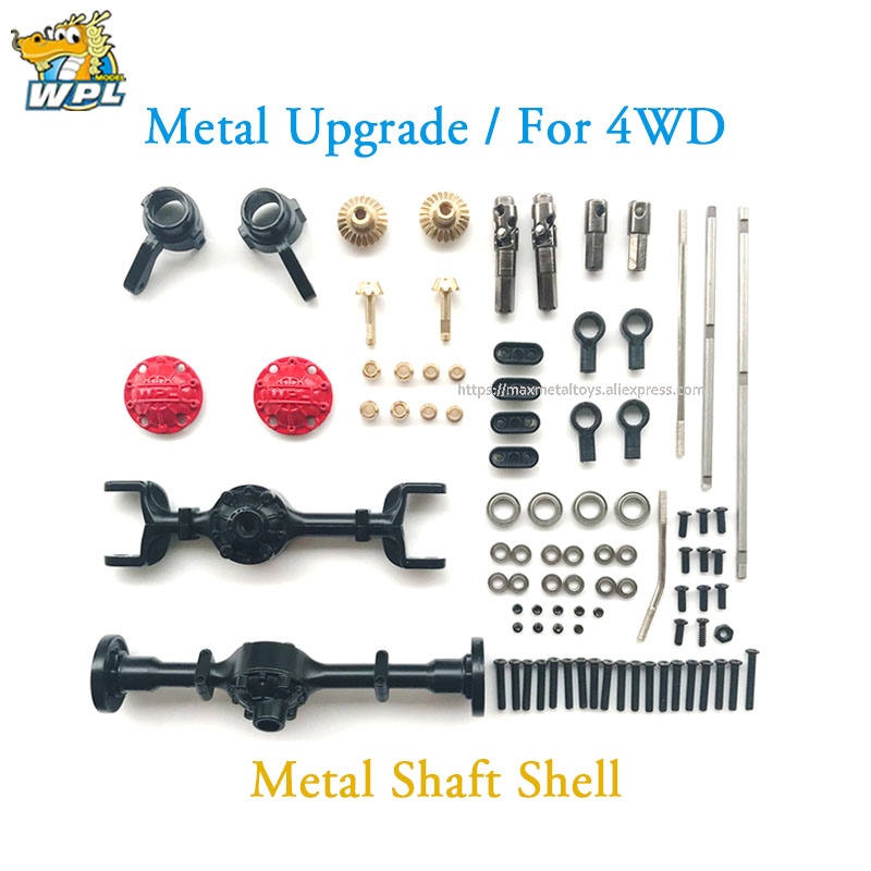 Image 2 - WPL Upgrade DIY Modified Accessories Full Metal Spare Part Metal Shaft Shell Official OP Fitting for B14 B16 B24 C14 C24 C34 B36-in Parts & Accessories from Toys & Hobbies