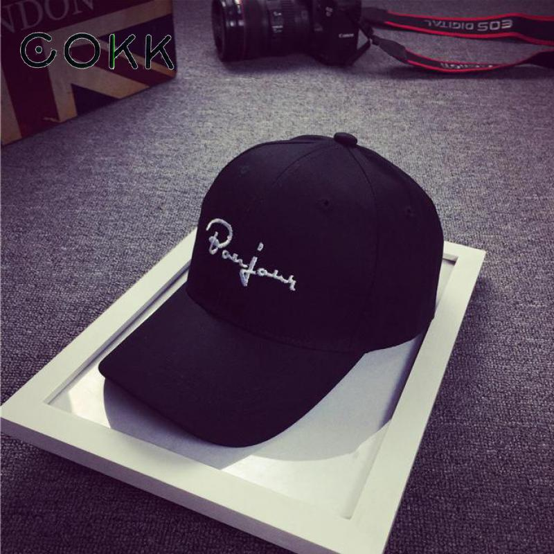 COKK Black Baseball Cap Women Snapback Embroidery Dad Hats For Men Casquette Daddy Hat Hip Hop Trucker Cap Bone Female Drake Sun 2016 new new embroidered hold onto your friends casquette polos baseball cap strapback black white pink for men women cap