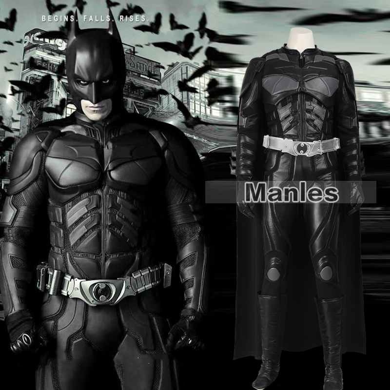 Batmen Cosplay Costume Le Dark Knight Rises Batmen Bruce Wayne Costume Halloween Cosplay Costume Vêtements Adulte Hommes Personnalisé