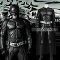 Batmen Cosplay de The Dark Knight Rises Bruce Wayne Batmen Traje de Halloween Cosplay Traje Adulto Ropa de Los Hombres Personalizados