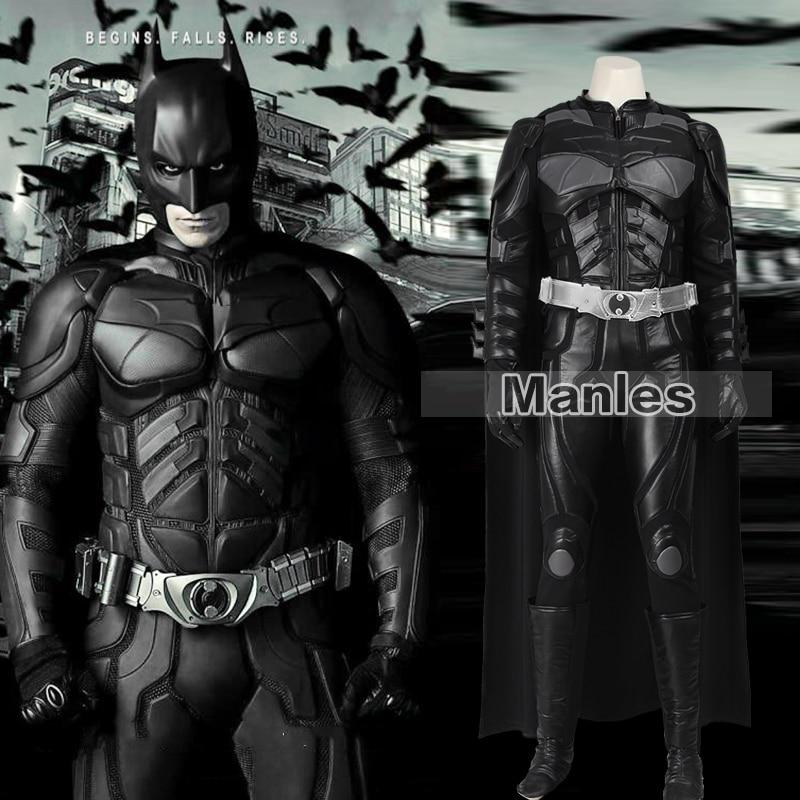 Batmen Cosplay Costume Le Dark Knight Rises Batmen Bruce Wayne Costume Halloween Cosplay Costume Vêtements Adulte Hommes Personnalisé