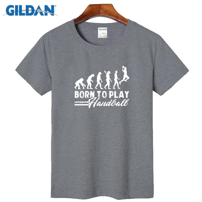 Handball Evolution Born To Play Forced Latest T Shirts For Guys 2017 Short  Tshirt Top Quality Family T Shirts Uniform-in T-Shirts from Men s Clothing  on ... ccd2456309d6