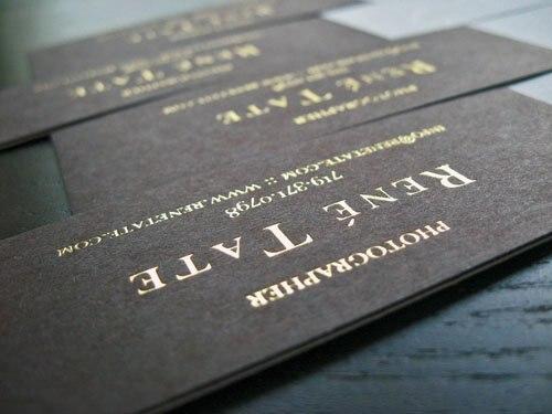 High End Maßgeschneiderte Golden Druck Visitenkarten Folie