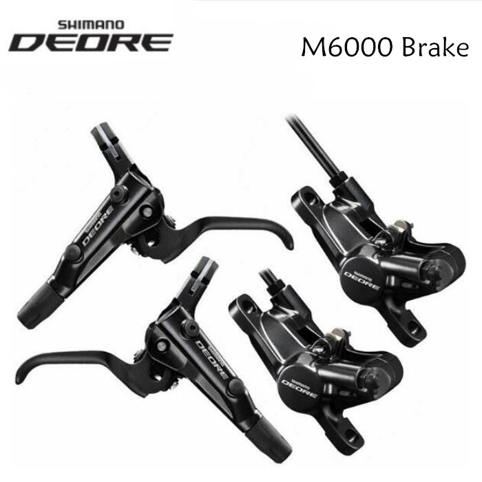SHIMANO DEORE M6000 Hydaulic MTB Bicycle Disc Brake 800mm/1400mm Front & Rear bike brake with J02A Ice Cold Pads economic bicycle brake pads black 4 pcs
