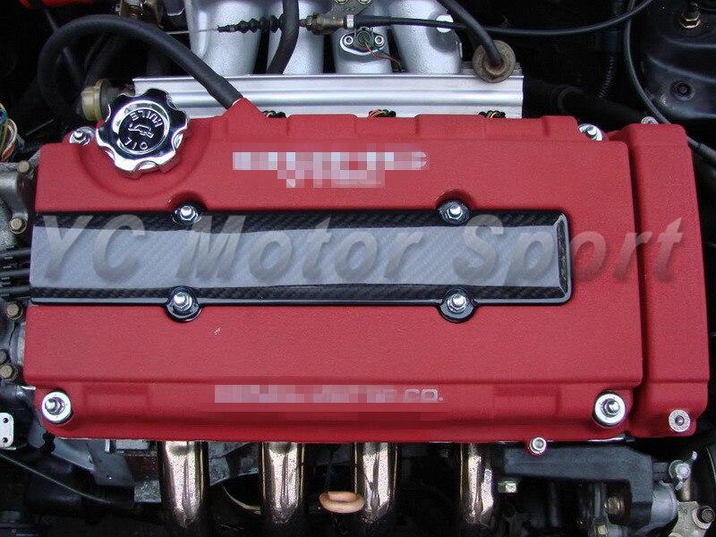 Couvercle de bougie d'allumage de moteur de Fiber de carbone d'accessoires de voiture adapté pour la série B B16 B18 Civic CRX CRV Integra