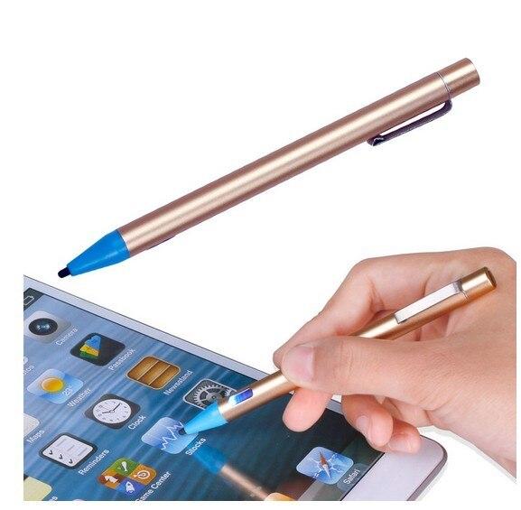 Активность емкостной пера 2.0 мм ультра-тонкий емкостный стилус стилус ручка USB Зарядка для ipad/iphone/Samsung Tablet ПК