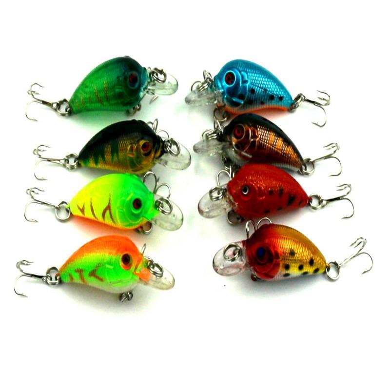 1x 4.5cm 4.2g Mini Fishing Lures Crank Baits 3d Fish Eye Simulation Minnow Crankbait Hard Plastic Laser Lure Bait Low Price (3)
