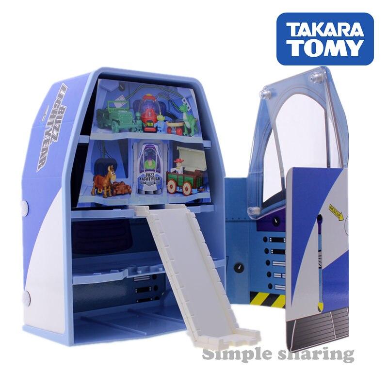Takara Tomy dream Tomica Disney jouet histoire buzz lightyear vaisseau spatial étui en plastique bébé jouets boîte de rangement pop moulé sous pression enfants babiole