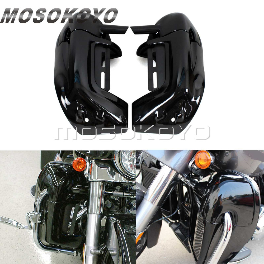 Black Motorcycle Lower Vented Fairing Leg for Harley Touring Road King Street Glide FLT FLHT Engine Guard Glove Box 1983-2012
