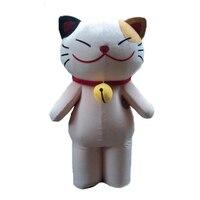 Gorąca sprzedaż 2017 cartoon character dorosłych piękne buźkę kot maskotki kostium fancy dress party szczęście kot kostium dla dorosłych rozmiar