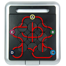 Plastic Twist Subway Connecting Stations Track Maze Puzzle Board Game Logic Reasoning Intelligence Educational Toy For Kids(China)