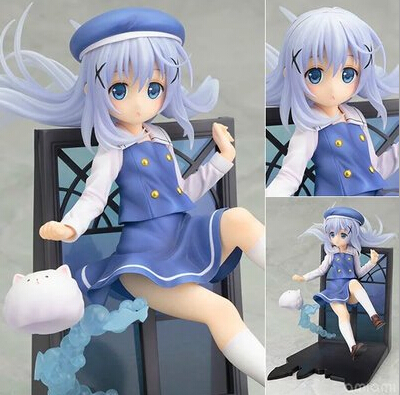 NEW hot 18cm Is the order a rabbit ? Kafuu Chino  action figure toys collection christmas toy doll with box new order new order music complete 2 lp
