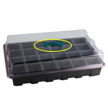 24-Hole Seedling Tray Plant Nursery Pot Seeding Box with Big Holes Gardening Supplies 3PCS/Set