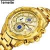 Relogio Masculino New TEMEITE Fashion Mens Watch Men Full Steel Business Watch Date Chronograph Quartz Watch