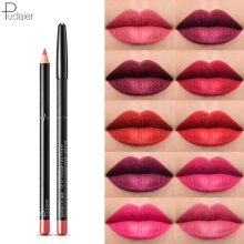 6pcs/set 36 Colors Nude lip liner Matte Lipliner Pencil Wate