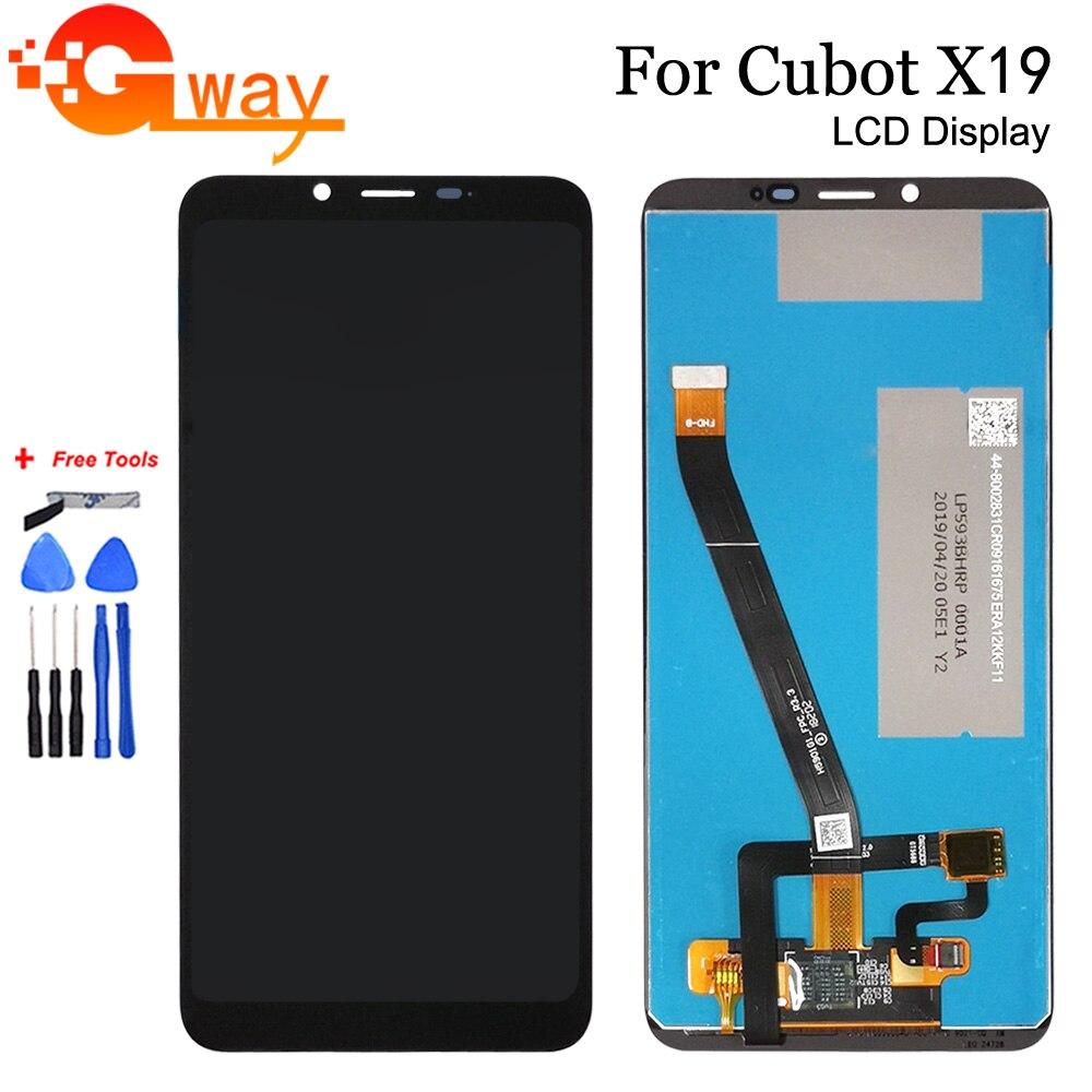 5,93 дюйма, 100% тестирование для Cubot X19, ЖК-дисплей с кодирующий преобразователь сенсорного экрана в сборе для Cubot X19, мобильный телефон, аксессуа...