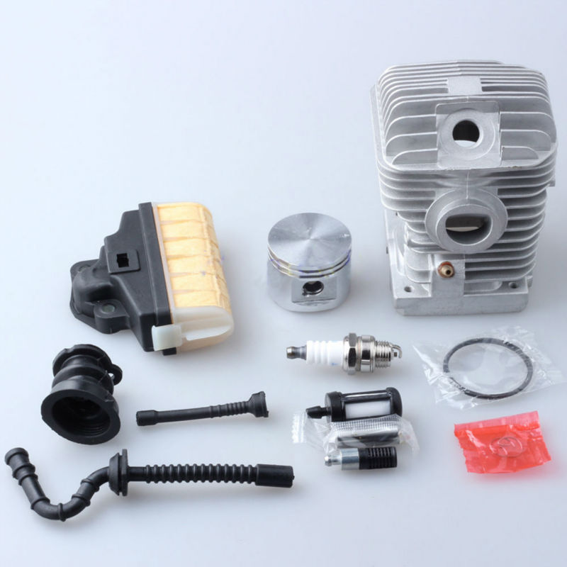 Chainsaw Saw For Stihl 021 MS210 Cylinder Piston Kit Air/ Fuel/ Oil Filter Line Rep 1123 020 1218