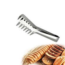 Stainless Steel Bread Clip Creative Food Clip Non-Stick Cooking Kitchen Tongs Picnic BBQ Tool Salad Bacon Steak Cake Clip Clamp
