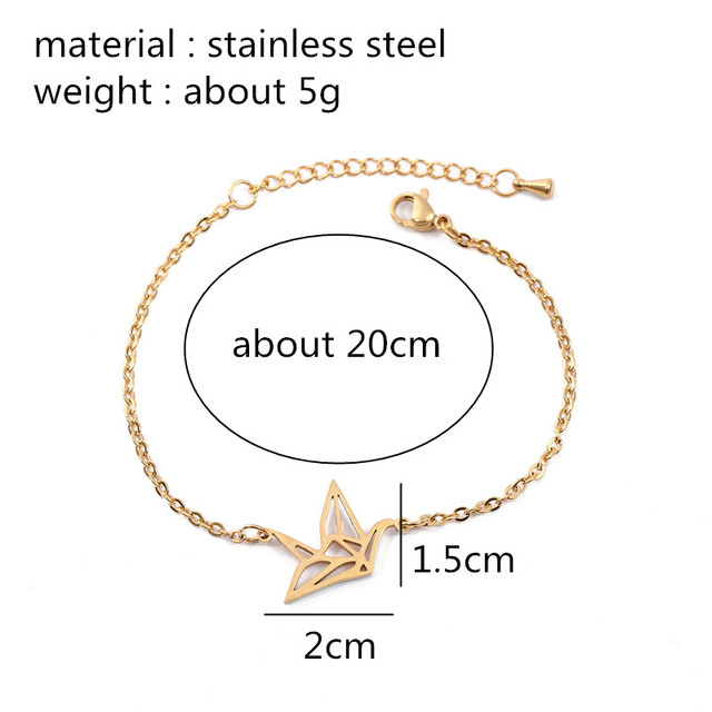 diagram origami bracelet 3 phase wiring gold silver crane women s gallery of trends