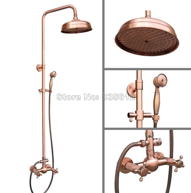 Wall Mounted Bathroom Antique Red Copper 8\