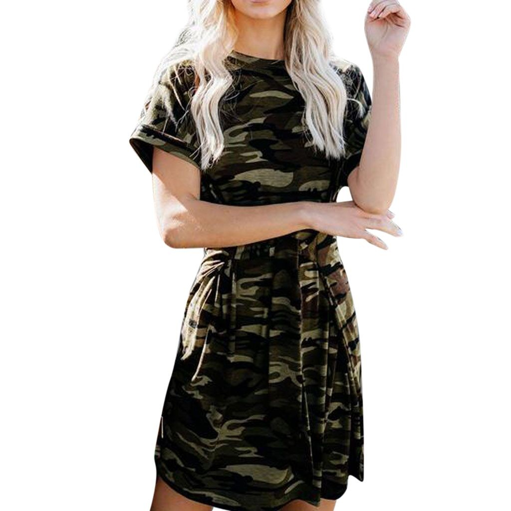 Fashion Womens Camouflage Bandage Bodycon   Dress   Club Party   Cocktail   Mini   Dress
