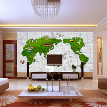 Europe map prairie 5d space wallpaper bump marble brick wall seamless large mural for household decor office improvement
