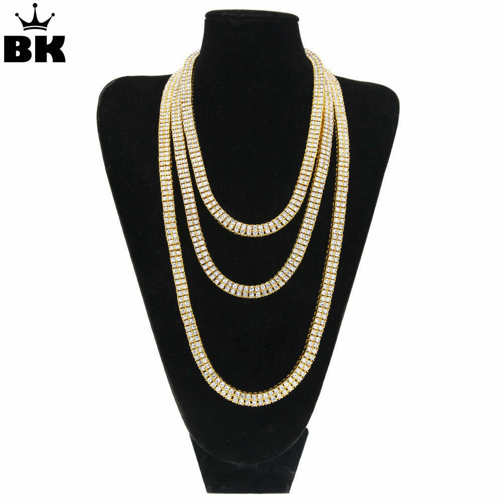 0b455802b6de8 Detail Feedback Questions about 2 Row 8mm Tennis Chain Iced Out ...