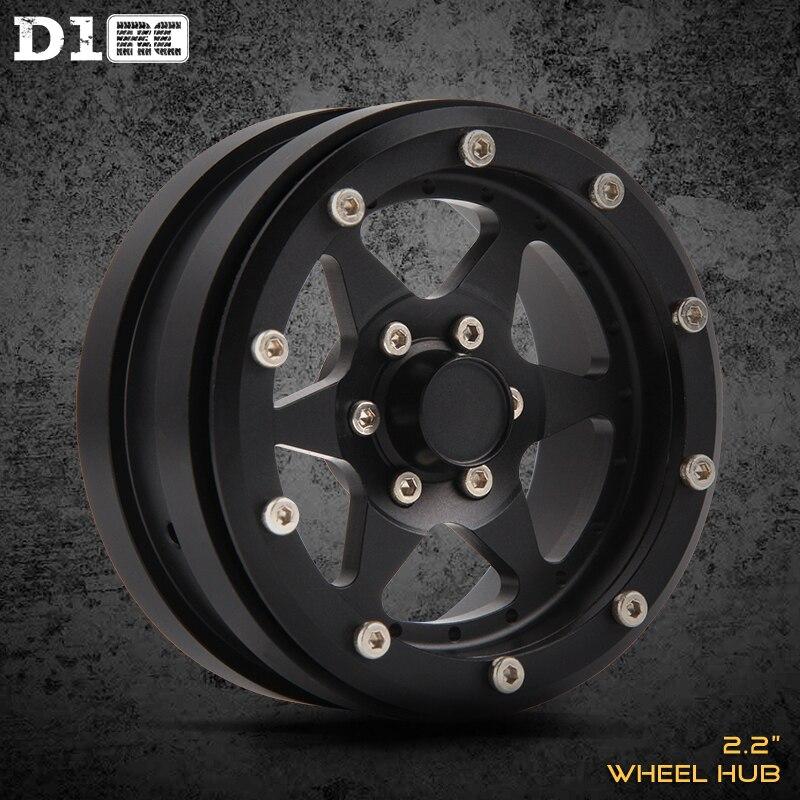 D1RC Simulation Climbing Car Aluminum Alloy Metal Wheel 2.2 Inch Suitable For AXIAL TRX4 Non VP WheelsD1RC Simulation Climbing Car Aluminum Alloy Metal Wheel 2.2 Inch Suitable For AXIAL TRX4 Non VP Wheels