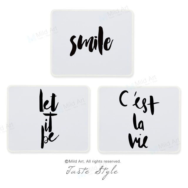 Black White Cute Quotes Nordic Hand Write Calligraphy French Art