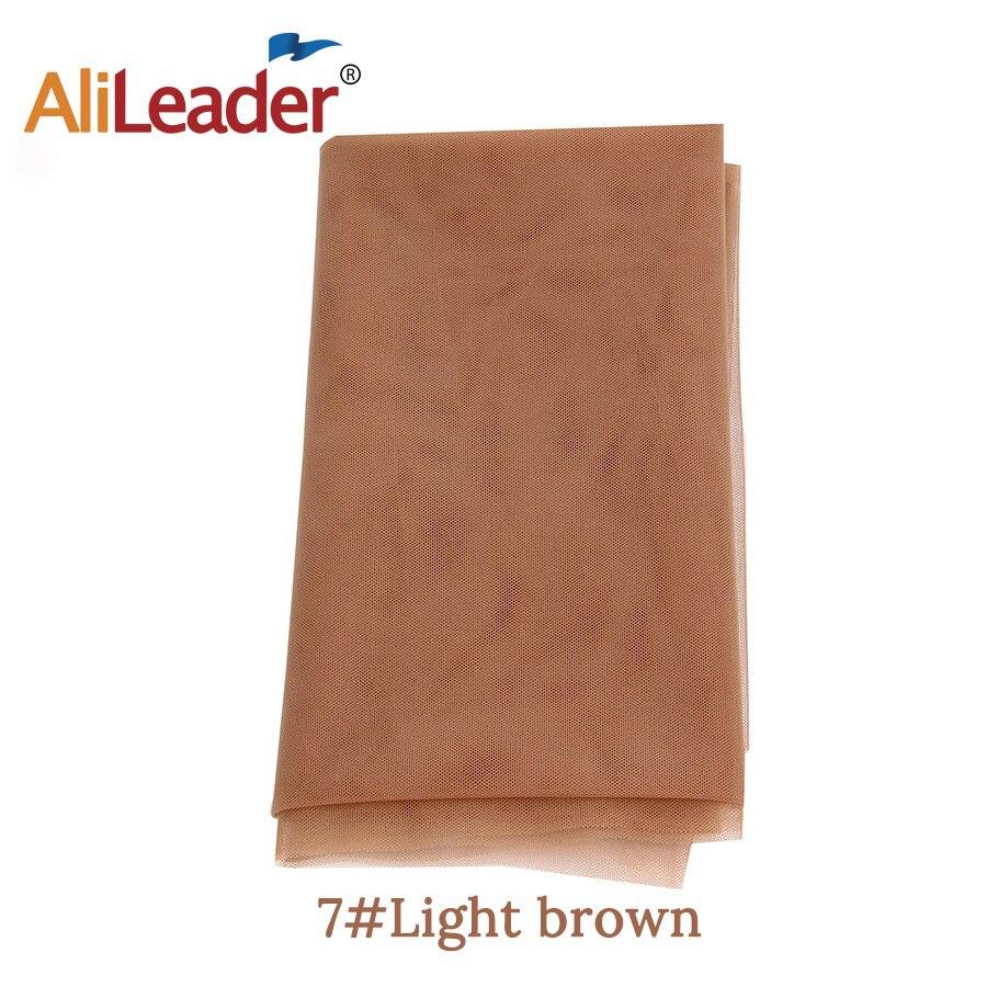 AliLeader дешевые 1/4 ярдов сделать кружева передние человеческие волосы парики основа для волос Прозрачная швейцарская кружевная сеть для парика изготовление материала - Цвет: Light Brown