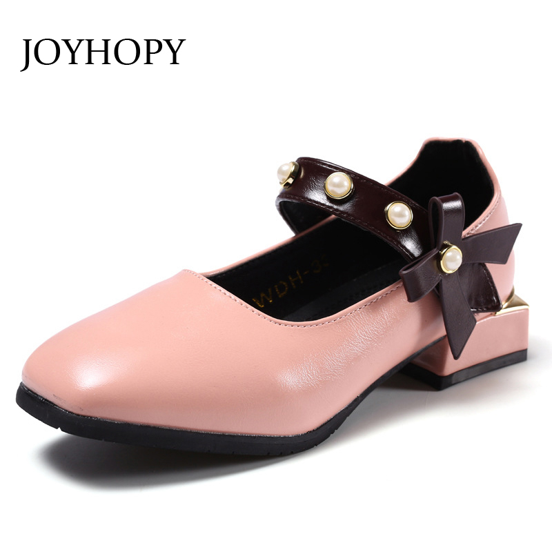 New Arrival 2018 Autumn Baby Girls Leather shoes Fashion Princess Shoes Children Kids Party shoes