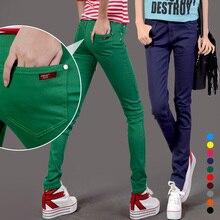 6xl! Мода женщины сексуальное конфеты цвета карандаш брюки свободного покроя брюки узкие брюки летние брюки леди джинсы бесплатная доставка