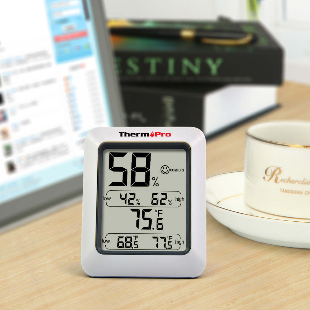 Thermopro TP50 High accuracy LCD Digital Thermometer Hygrometer ...