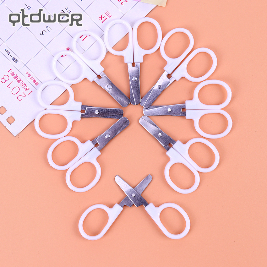 Office Mini Scissors Metal And Plastic DIY Scrapbooking Scissors Paper Material Steel School Cutting Stationery Supplies