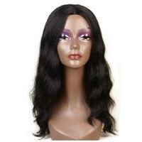 Feibin Lange Perücken Für Schwarze Frauen Synthetische Afro Wellig Natur Schwarz Haar 22 zoll 55 cm