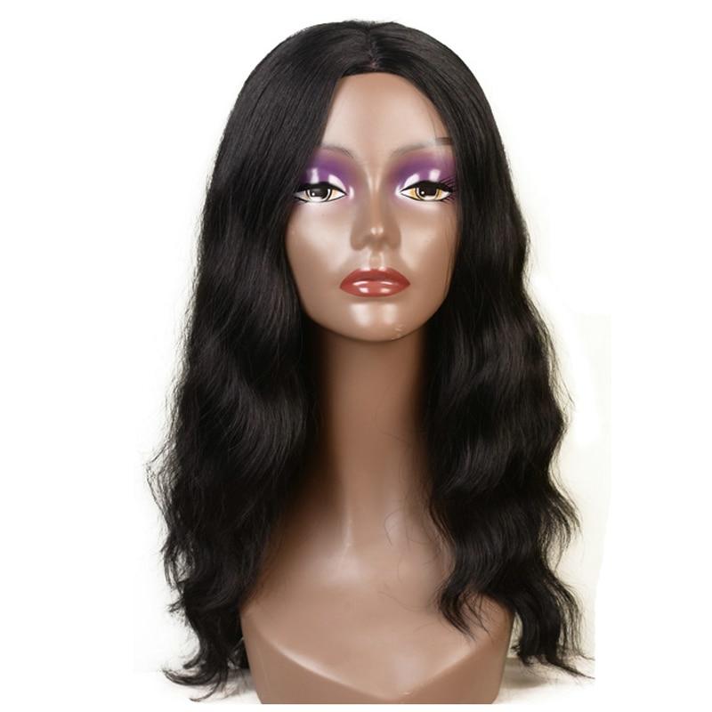 Feibin Långa Pärlor För Svarta Kvinnor Syntetisk Afro Vågigt Natur Svart Hår 22 inches 55cm