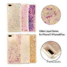 Lentejuelas caso Hoesjes iPhone 7 Plus suave TPU cubierta trasera de protección caja del teléfono Animal sFor iPhone 8 más Kryt celular bolsa