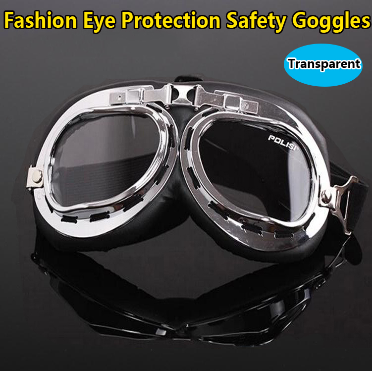 Free shipping Eye protection Windproof anti-UV Protective transparent lens Safety Glasses fashion safety goggles adjustable windproof elastic band night vision goggles glass children protection glasses green lens eye shield with led