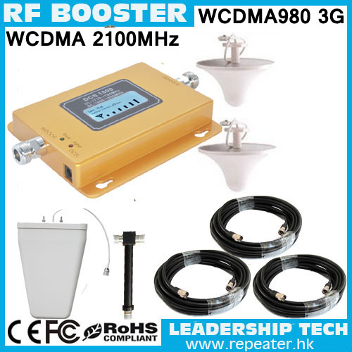 WCDMA980 3G UMTS980 TD-SCDMA HSDPA 2100Mhz 3G Cellular Mobile/cell Phone Signal Repeater Booster Amplifier Detector With LCD