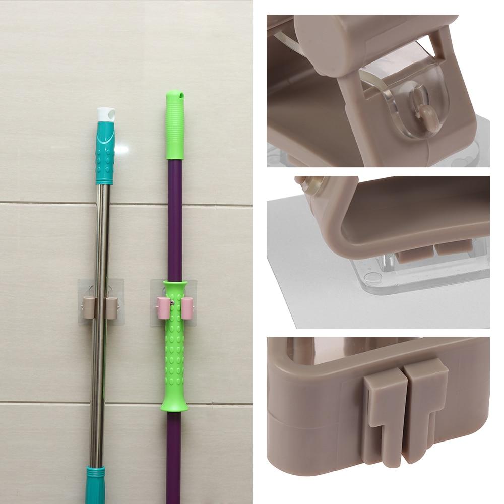 Wall Mounted Mop Umbrella Holder Brush Broom Hanger Storage Rack Kitchen Tool