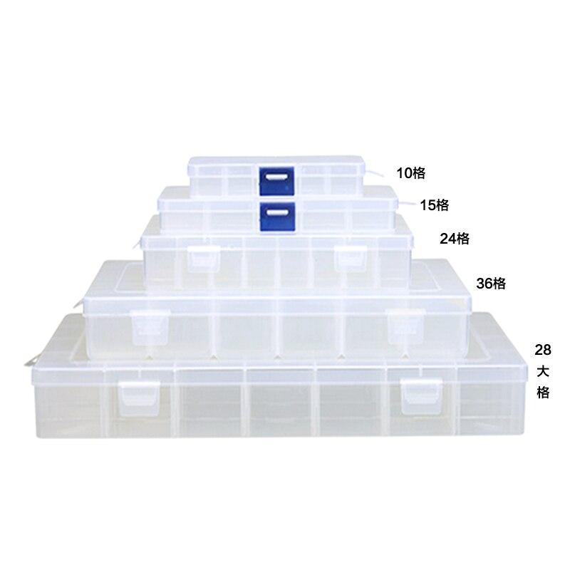 10 секций мини Пластик Коробки для инструментов для гайки ногтей Интимные аксессуары компонент хранения коллекция поле Пластик случае