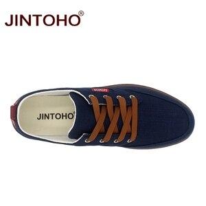 Image 5 - JINTOHO حجم كبير تنفس أحذية رجالي مبيعات الدانتيل يصل حذاء قماش العلامة التجارية حذاء رجالي مصمم الصين أحذية رخيصة