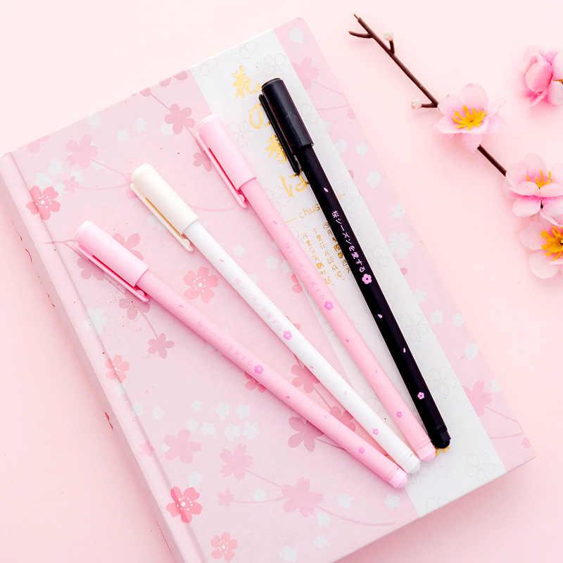 3 ручки/набор гелевых ручек Sakura милые черные чернила вишни рекламные канцелярские принадлежности Школьные и офисные принадлежности для письма Kawaii