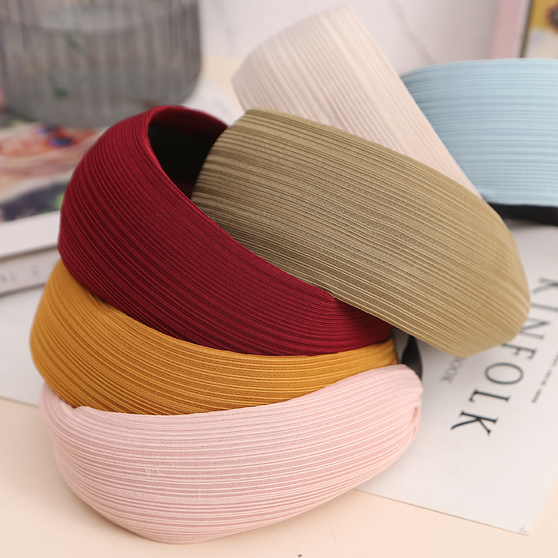 Image 3 - AIKELINA Fashion Extra wide Women Hairbands Girls Knitting Durable Clean Face Headband Wide Hair Bands Headwear Hair Accessories-in Women's Hair Accessories from Apparel Accessories