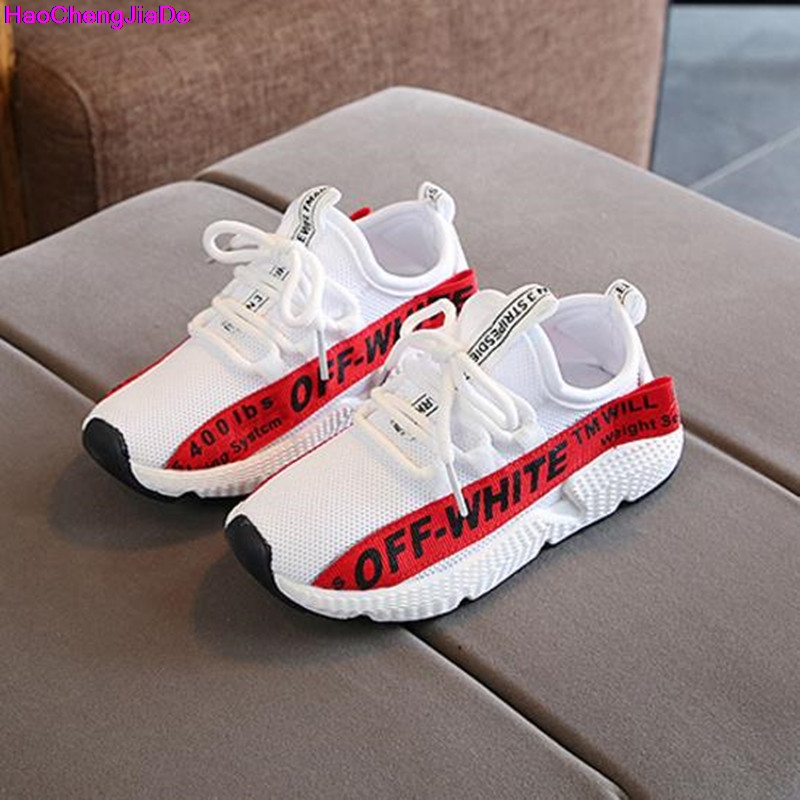 HaoChengJiaDe Kids Shoes For Girls Boys Fashion Children Breathable Mesh Sneakers School Soft Running Sneakers Tenis Infantil