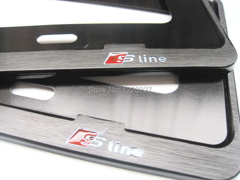 Audi Plate Frame >> Chrome Metal License Plate Frame 18 2 6 7 1 Pair Fit For Audi