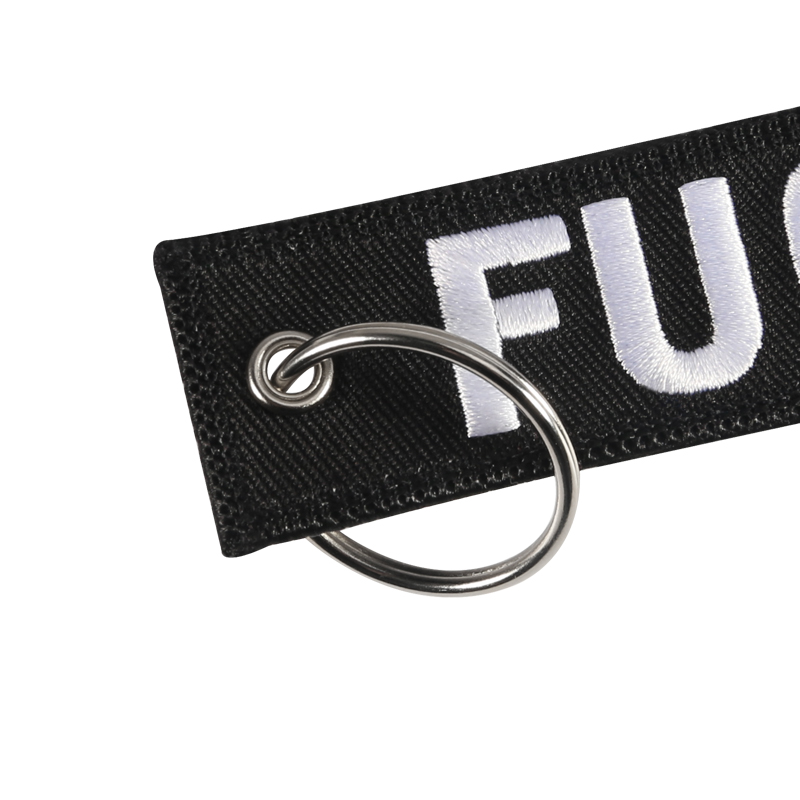 Fashion Jewelry Chaveiro Car Key Chain Black and White Key Holder for Cars and Motorcycles Car Key Ring Funny Keychains llavero  (6)